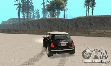 Mini Cooper Hardtop para GTA San Andreas esquerda vista