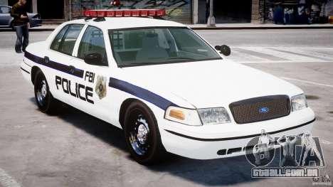 Ford Crown Victoria 2003 FBI Police V2.0 [ELS] para GTA 4 vista inferior