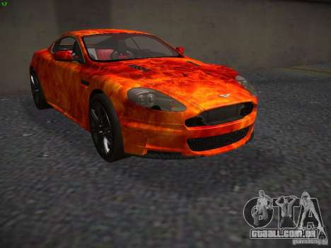 Aston Martin DBS para GTA San Andreas vista interior