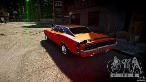 Dodge Charger RT 1969 esportes de v 1.1 tun para GTA 4 traseira esquerda vista