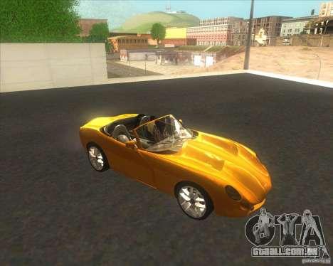 TVR Tuscan para GTA San Andreas traseira esquerda vista