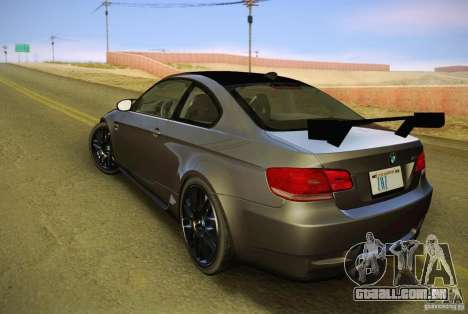 BMW M3 GT-S Final para GTA San Andreas esquerda vista