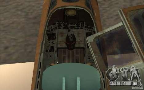 O Su-25 para GTA San Andreas vista traseira