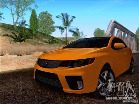 Kia Forte Koup SX para GTA San Andreas traseira esquerda vista