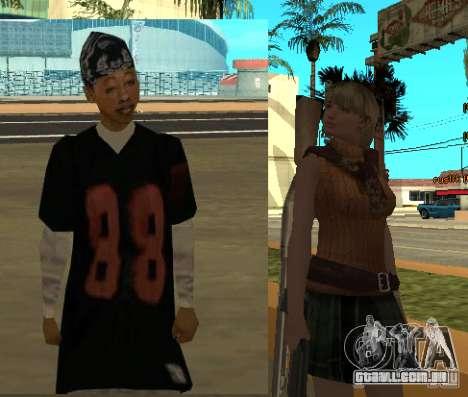 Pak personagens de Resident Evil para GTA San Andreas sexta tela
