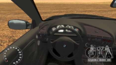 BMW M3 E36 para GTA 4 traseira esquerda vista