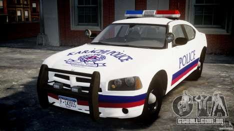 Dodge Charger Karachi City Police Dept Car [ELS] para GTA 4