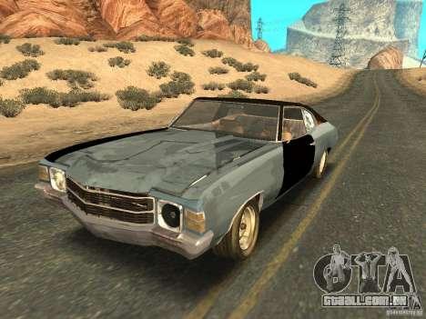 Chevrolet Chevelle Rustelle para GTA San Andreas vista inferior