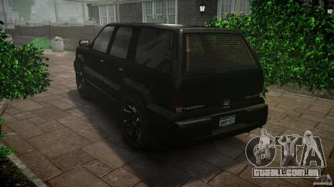 Cavalcade FBI car para GTA 4 traseira esquerda vista