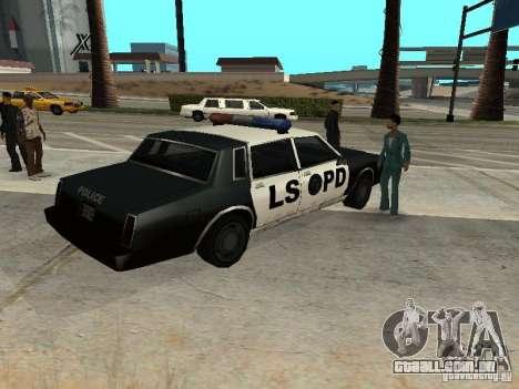 Tahoma Police para GTA San Andreas traseira esquerda vista