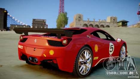 Ferrari 458 Challenge 2011 para GTA 4 traseira esquerda vista
