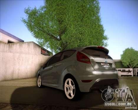Ford Fiesta Zetec S 2010 para GTA San Andreas traseira esquerda vista