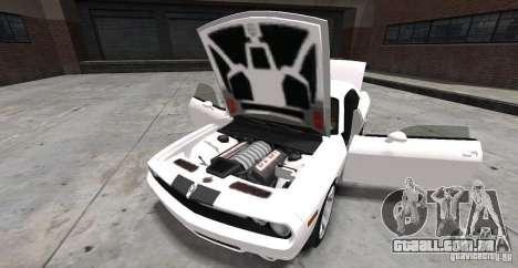 Dodge Challenger 2006 para GTA 4 vista de volta