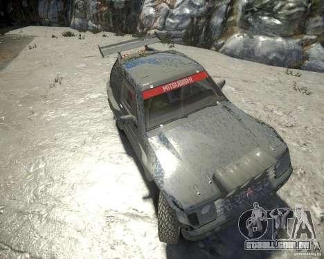 Mitsubishi Pajero Proto Dakar EK86 para GTA 4 vista interior