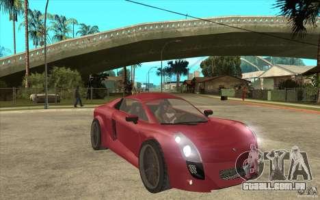 Mastretta MXT para GTA San Andreas vista traseira