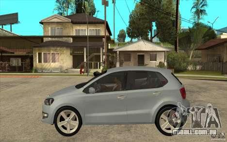 Volkswagen Polo 2011 para GTA San Andreas esquerda vista