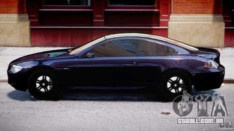 BMW M6 Orange-Black Bullet para GTA 4 traseira esquerda vista