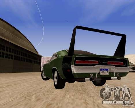 Dodge Charger Daytona 1969 para GTA San Andreas vista traseira
