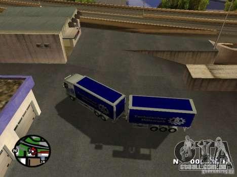 Iveco Stralis para GTA San Andreas vista direita