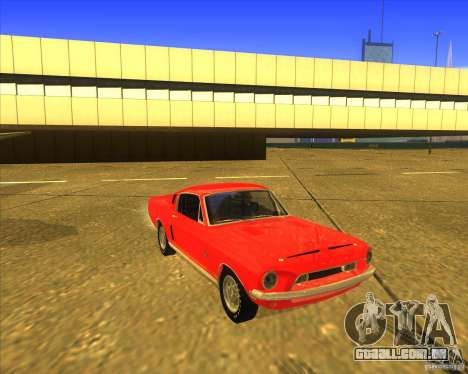 Shelby GT500KR 1968 para GTA San Andreas vista interior