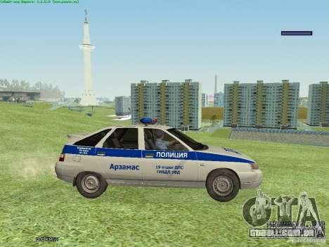 LADA 2112 DPS polícia para GTA San Andreas traseira esquerda vista
