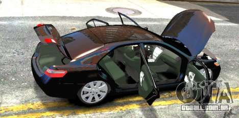 Toyota Camry V6 3.5 2007 para GTA 4 vista de volta