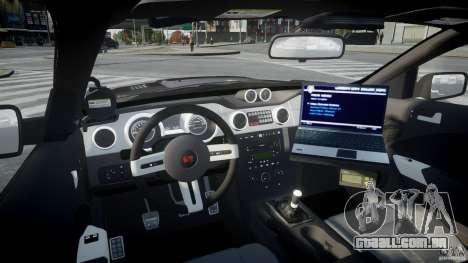 Saleen S281 Extreme Unmarked Police Car - v1.2 para GTA 4 vista direita