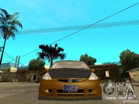 Honda Jazz Sport para GTA San Andreas vista direita