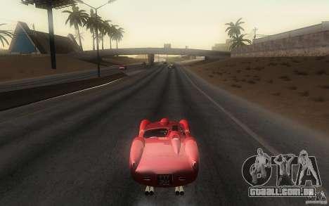 Ferrari 250 Testa Rossa para GTA San Andreas traseira esquerda vista