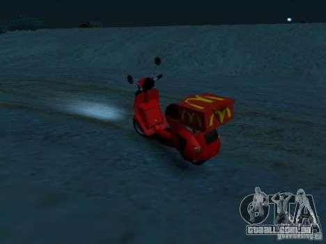 McDonalds Pizzaboy para GTA San Andreas esquerda vista