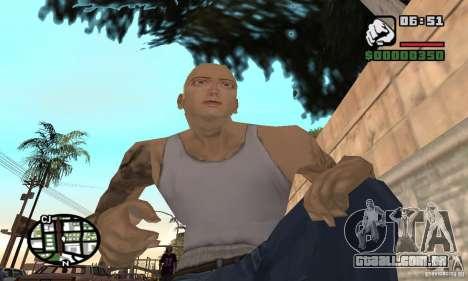 Eminem para GTA San Andreas por diante tela