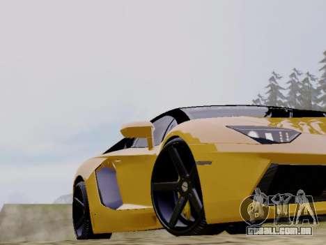 Lamborghini Aventador LP700-4 Vossen para GTA San Andreas vista traseira