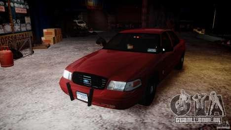 Ford Crown Victoria Detective v4.7 red lights para GTA 4 vista superior