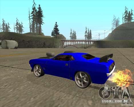 Plymouth Hemi Cuda de NFS Carbon para GTA San Andreas traseira esquerda vista