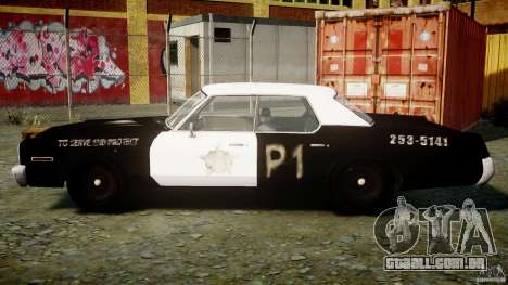 Dodge Monaco 1974 (bluesmobile) para GTA 4 esquerda vista