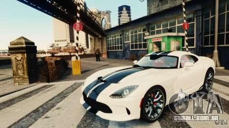 Dodge Viper GTS 2013 para GTA 4 esquerda vista