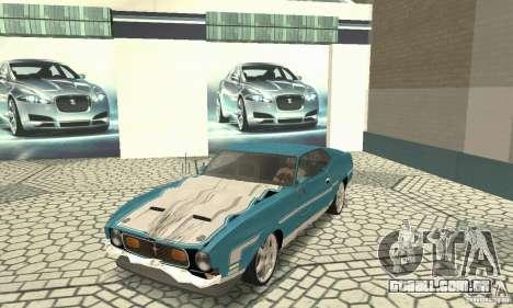 Ford Mustang Mach 1 1971 para GTA San Andreas vista interior