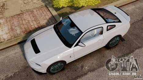 Ford Shelby GT500 2013 para GTA 4 vista direita