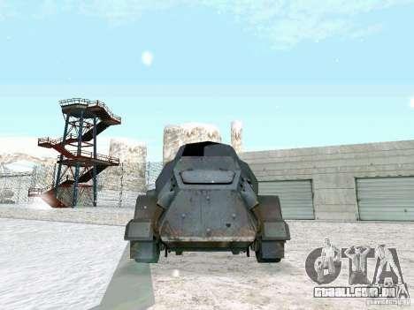 Transporte de pessoal blindados do jogo atrás da para GTA San Andreas traseira esquerda vista