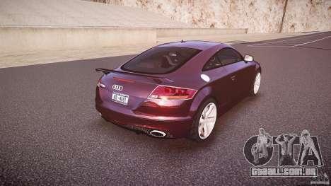 Audi TT RS v3.0 2010 para GTA 4 vista superior