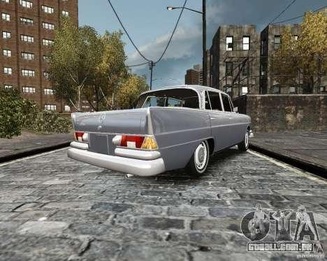 Mercedes-Benz W111 para GTA 4 traseira esquerda vista