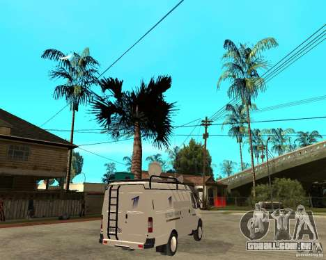 Canal de notícias de gazela 2705 para GTA San Andreas traseira esquerda vista