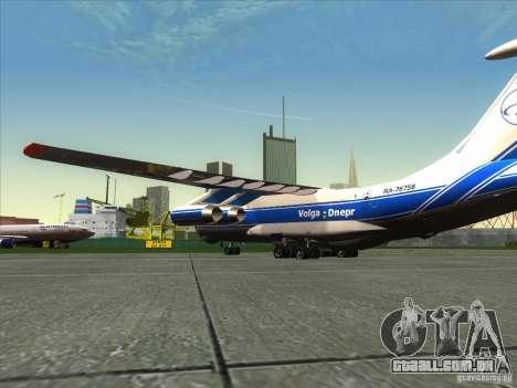 IL 76 m Aeroflot para GTA San Andreas esquerda vista