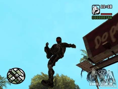 Crysis Nano Suit para GTA San Andreas sétima tela