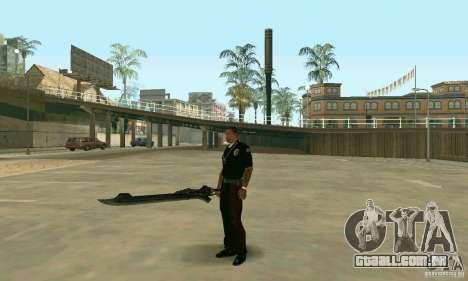 Espada de Nero no Devil May Cry 4 para GTA San Andreas terceira tela