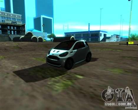 Aston Martin Cygnet para GTA San Andreas esquerda vista