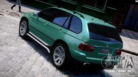 BMW X5 E53 v1.3 para GTA 4 traseira esquerda vista