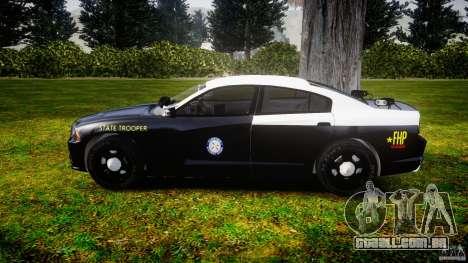 Dodge Charger 2012 Florida Highway Patrol [ELS] para GTA 4 esquerda vista