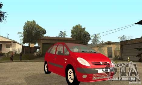 Citroen Xsara Picasso para GTA San Andreas vista traseira