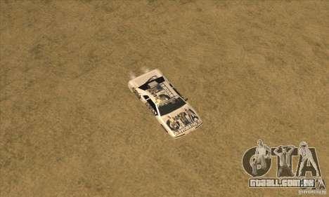 Vinil www.gtavicecity.ru para GTA San Andreas vista traseira